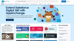 salesforce app marketplace homepage